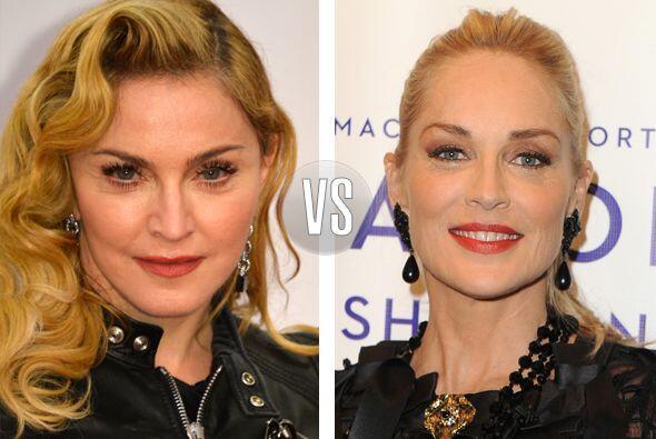 Duelo de divas. Madonna y Sharon Stone se encuentran en los 55 añ...