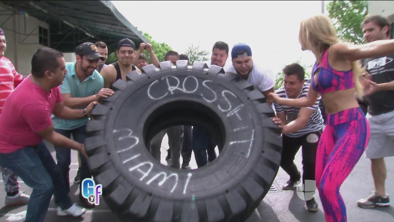 Banda Macho se fueron a ponerse en forma como Ximena Córdoba haciendo Cr...