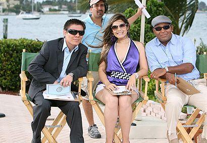 """Un jurado de lujo con el """"Travieso"""" Arce, su esposa y Tony Dandrades."""