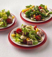 Ensalada de roast beef con pimienta: Si te sobraron trozos de carne de r...