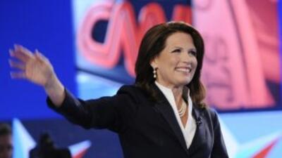 La representante Michele Bachmann cuenta con el apoyo del Tea Party.