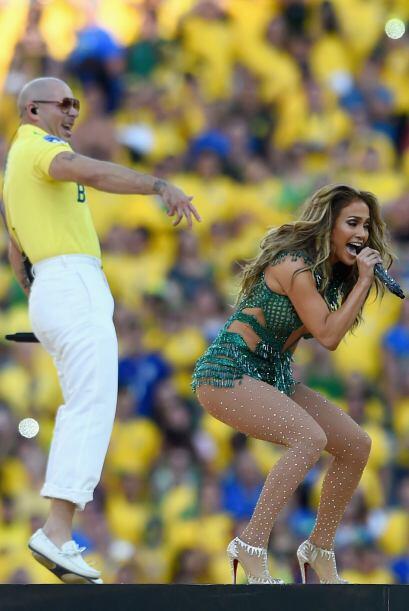 El que se vio opacado fue Pitbull.Todo sobre el Mundial de Brasil 2014.