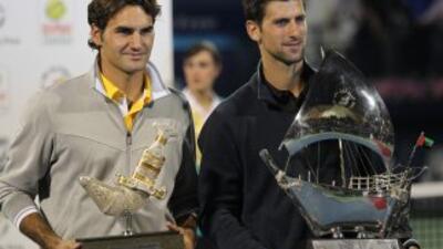 Djokovic le ganó a Federer en la final de Dubai.