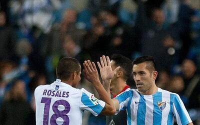 Charles marcó el gol del empate del Málaga.