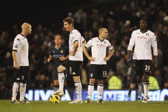 El Fulham descontó con un tanto marcado por Gera, lo cual fue ins...