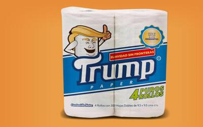 Crean el papel higiénico 'Trump', cuyas ventas apoyarán a inmigrantes y...