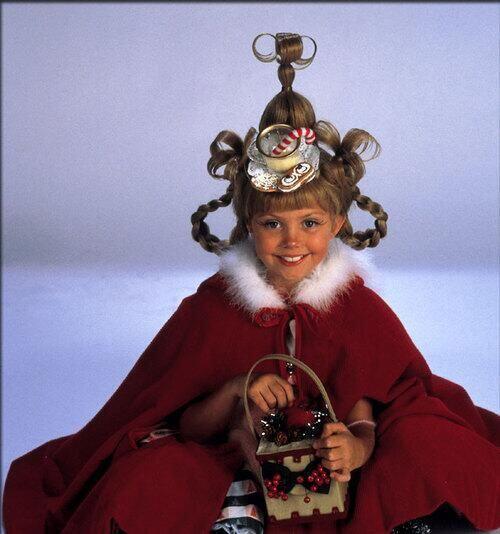 En ella, Taylor interpretó a Cindy Lou Who, la niña que cautivó al Grinc...
