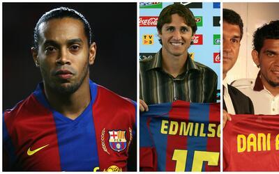 Ronaldinho, Edmilson y Alves se fueron 'rajando' del Barça.