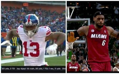 Odell Beckham Jr. troleó la celebración de LeBron James en Cleveland