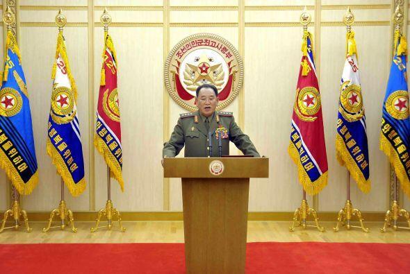 El portavoz militar de Norcorea entregó este miércoles 6 de marzo de 201...