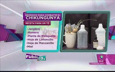 Ataca el virus del chikungunya con estos remedios