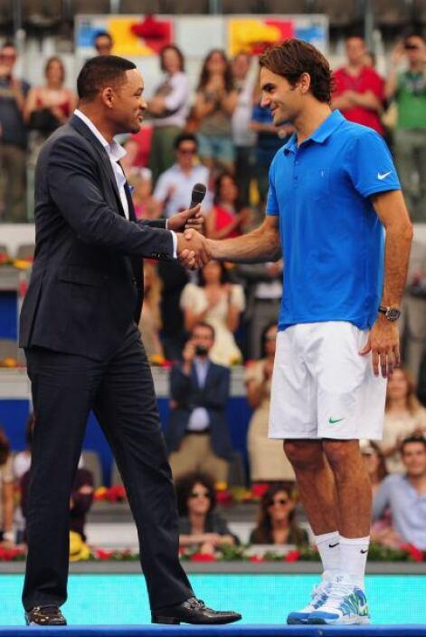 El actor Will Smith felicitó a Federer por su triunfo.