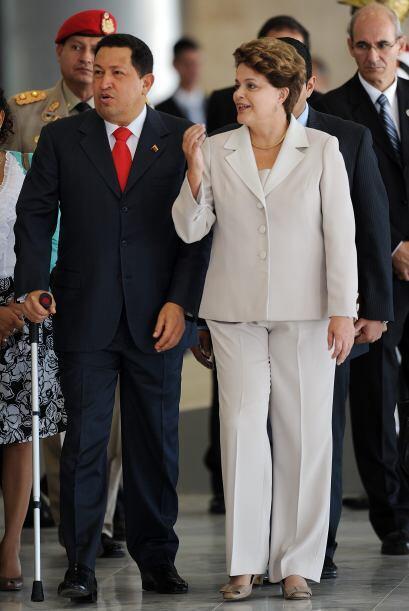 6 de junio 2011 Hugo Chávez llegó a Brasil para su primer...