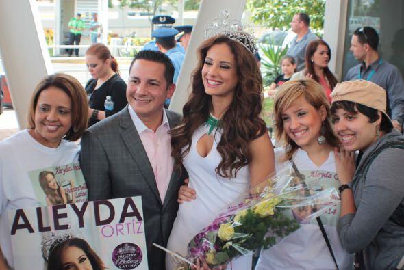 Aleyda fue recibida con los brazos abiertos por toda su gente, quienes s...