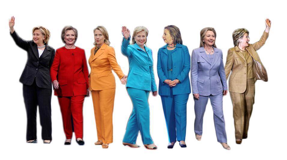 Los malabares de Bill Clinton para apoyar a Hillary con su atuendo Clint...
