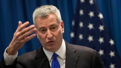 Imagen reciente del alcalde de Nueva York, Bill de Blasio, quien no será...