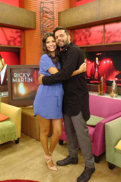 Ana y baby Giulietta también se tomaron la foto del recuerdo con el astr...