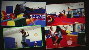 Nataliz Jimenez practico Parkour y se lució como toda una profesional