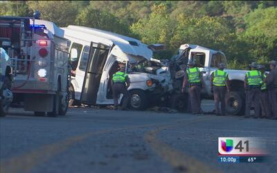 13 personas de la tercera edad murieron tras un aparatoso accidente que...