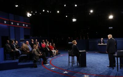 El segundo debate presidencial se desarrolló en la Universidad Wa...