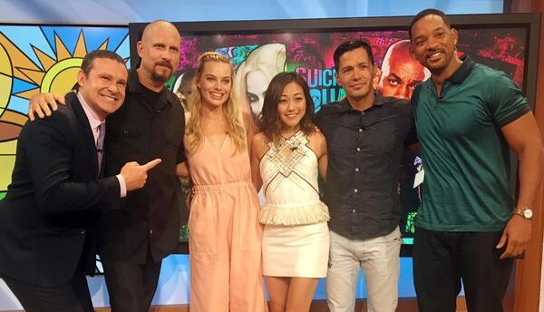 Te queremos Will Smith: El actor llegó con sus amigos de 'Suicide Squad'