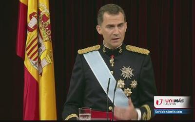 En su primer discurso como rey, Felipe VI habló sobre la economía y la u...