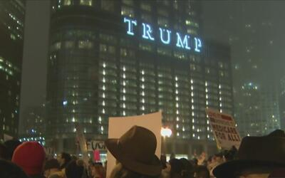 Protesta antiTrump deja varios arrestados en Chicago