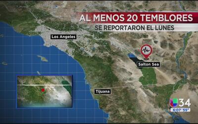 Se registran al menos 20 temblores de pequeña magnitud en Salton Sea est...