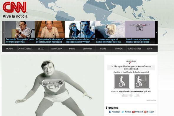 El fallecimiento de Chespirito acaparó el portal de CNN en español.