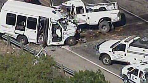 Al menos 12 personas muertas deja accidente de tráfico en Uvalde, Texas
