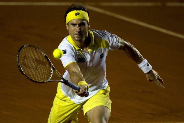 Otro español en acción, David Ferrer.