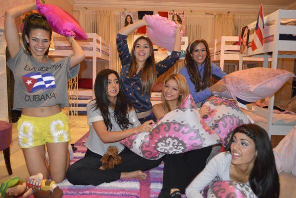 Las finalistas organizaron una fiesta en pijama para olvidar el estr&eac...