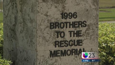 Exilio cubano conmemora a 'Hermanos al Rescate'