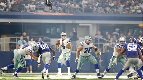 Cowboys y Giants se enfrentaron en la Semana 1 de la temporada.