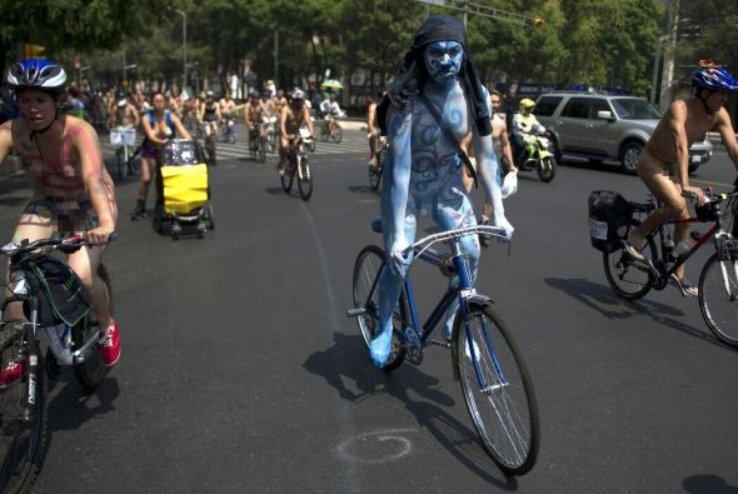 Una protesta inusual se realizó por las calles de la Ciudad de México. C...
