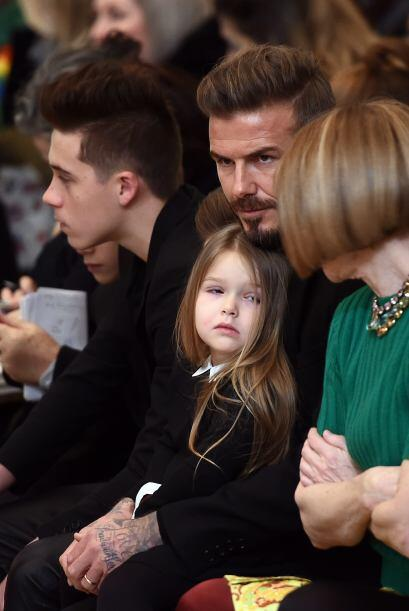 La pequeña Harper como toda una princesa, obediente y muy bien portada.