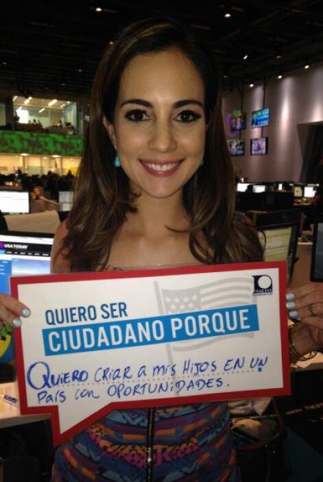 Nuestra hermosa y talentosa venezolana Mariana Atencio de Fusion expresa...