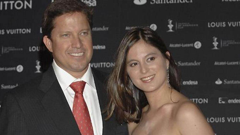 Chábeli Iglesias y su esposo Christian Altaba.