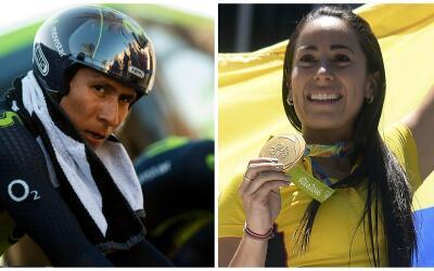Nairo Quintana y Mariana Pajón