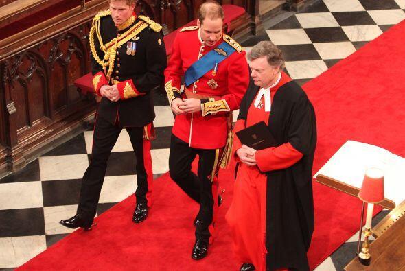 La llegada del Príncipe Guillermo a la Abadía era momento...
