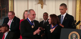 Emilio y Gloria Estefan medalla de honor