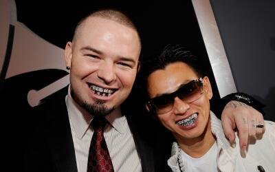 LOS ANGELES, CA - JANUARY 31: Rapper Paul Wall (L) and jeweler Johnny Da...