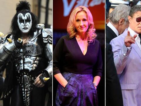 Desde el 'rockero' Gene Simons, pasando por la escritora J. K. Rowling,...