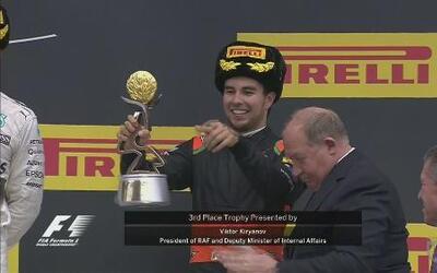 'Checo' Pérez llegó 3ro en el GP de Rusia