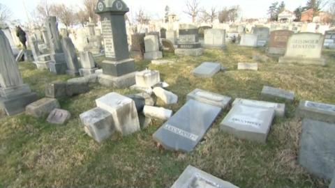 Cementerio de Brooklyn vandalizado este fin de semana