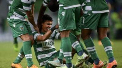 El colombianoFredy Montero anotó en el triunfo del Sporting.