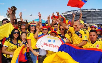 Fiesta colombiana en New Jersey por el boleto a semifinales en Copa Amér...