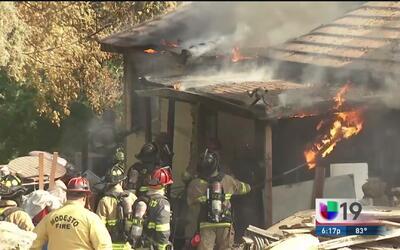 Bomberos responden a tres incendios en Modesto