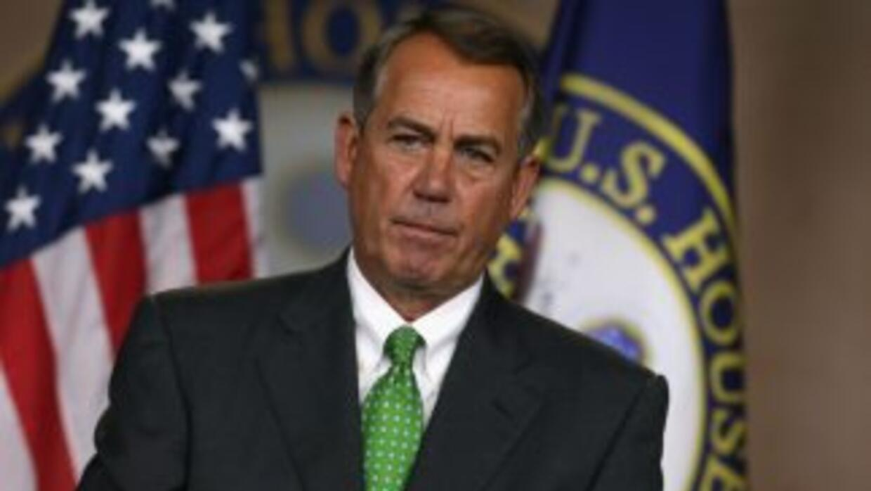 El presidente de la Cámara de Representantes de EEUU, John Boehner.