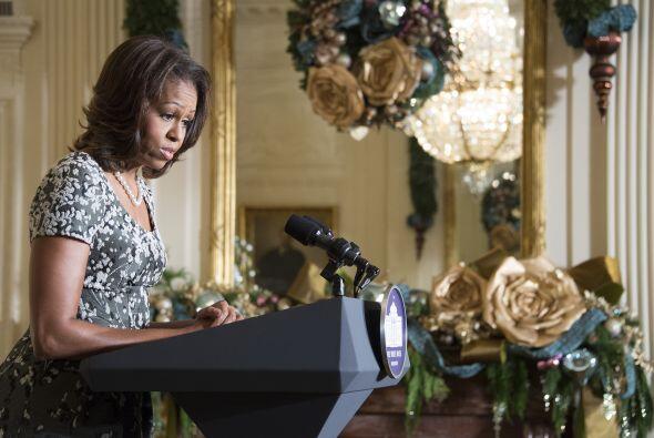 Michelle Obama, quien enfatizó el apoyo a las familias de militares, pid...